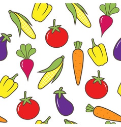 vegetable seamless background vector image