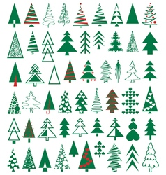 Icons conifer vector