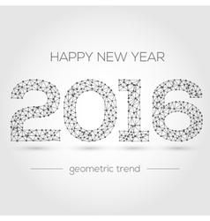 Happy new year 2016 colorful greeting card made vector