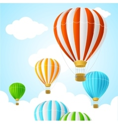 Hot air background card vector