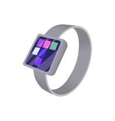 Smart watch icon cartoon style vector