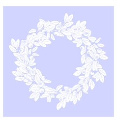 Wreath of blueberry vector