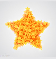 Abstract bright and beautiful yellow star vector