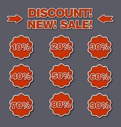Adverising discount labels vector