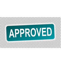 Approved sign flat vector