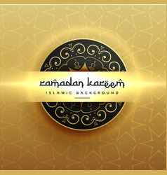 Beautiful luxury ramadan kareem greeting design vector