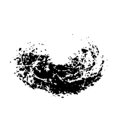 black and white abstract blot vector image