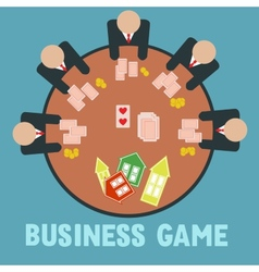 Business game vector image vector image