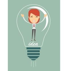 Businesswoman create idea vector image