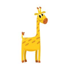 cartoon of giraffe vector image vector image