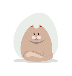 Cute fatty cat vector