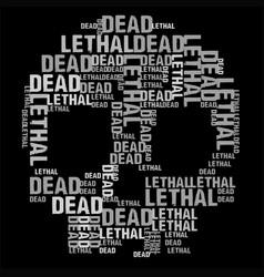 Dead skull black bg vector