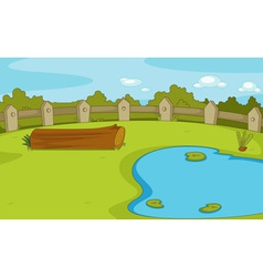 Empty park scene vector