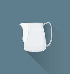 Flat coffee barista milk pitcher icon vector