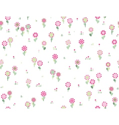 floral seamless pink pattern vector image vector image