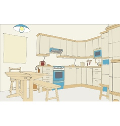 Kitchen color vector image