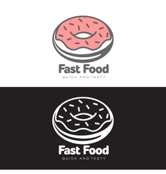 logo sweet donut with icing vector image vector image