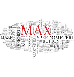 max word cloud concept vector image vector image