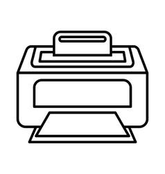 Modern laser printer icon outline style vector image