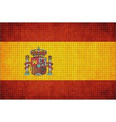 Mosaic Flag of Spain vector image vector image