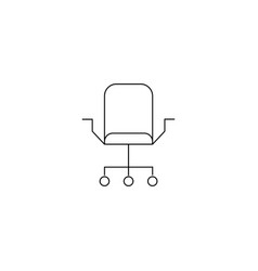 Office chair or logo in modern line style high vector