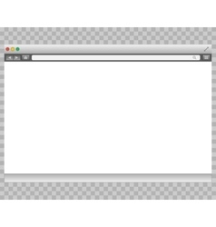 Opened template grey website display bar isolated vector