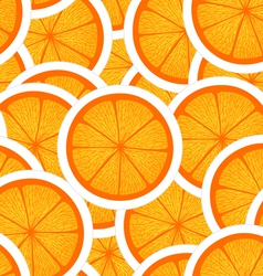 Orange seamless background vector image vector image
