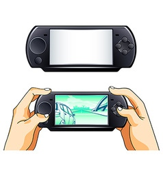 portable gamepad vector image