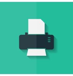 Printer web icon flat design vector