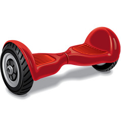 red modern gyroboard vector image