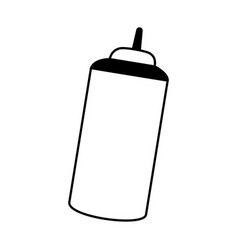 sauce bottle isolated icon vector image