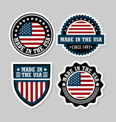 set of american icons vector image vector image