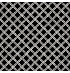 Silver seamless pattern cage vector image vector image