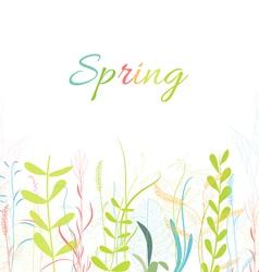 Spring florals flower background vector