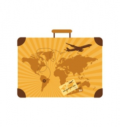 summer travel suitcase vector image vector image