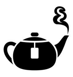 Teapot icon simple style vector