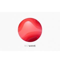 Wave logo Business Icon Red logo Company logo vector image vector image