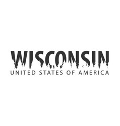 Wisconsin usa united states of america text or vector