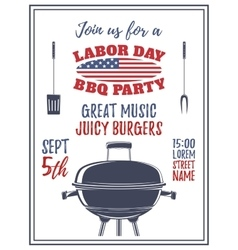 Labor day barbecue party background vector