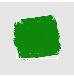 Grunge hand painted brush stroke square vector image