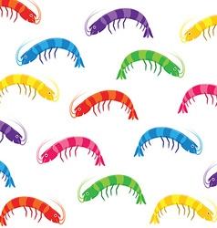 Party prawn pattern in format vector