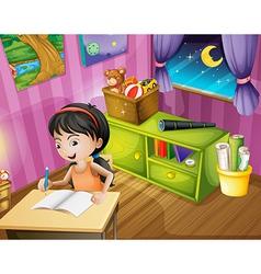 Student homework vector image