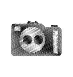 Hand draw photographic camera digital vector