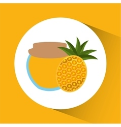 Preserved fresh fruit icon vector