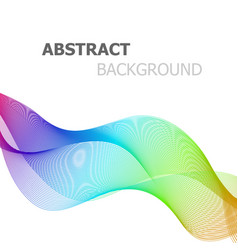 Abstract colorful line wave on white background vector