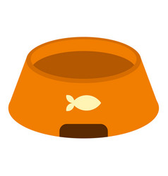 Bowl for animal icon isolated vector