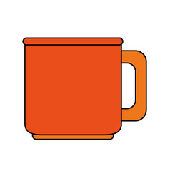 Color image porcelain mug of crockery vector