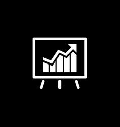 Presentation of achievements icon business vector