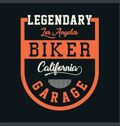 Biker california garage vector