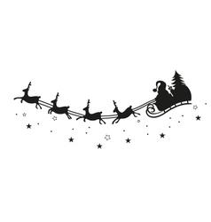 Santa claus reindeer vector image